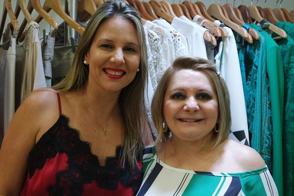 Nanie Paiva e Fátima Alencar. Crédito: Jaeny Nascimento/Divulgação