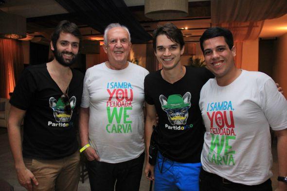 Jorge Peixoto, Jarbas Vasconcelos, Victor Carvalheira e Jarbas Filho - Crédito: Luiz Fabiano/Divulgação