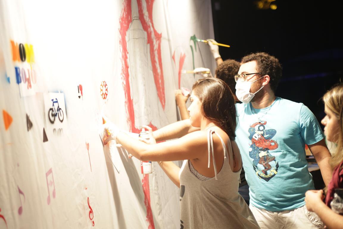 Intervenção artística de Live Painting  Créditos: Celo Silva/Divulgação