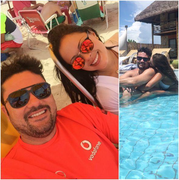 Meyrielle com o namorado  Rodrigo Soares, com quem mantém um relacionamento há 1 ano - Crédito: Arquivo pessoal