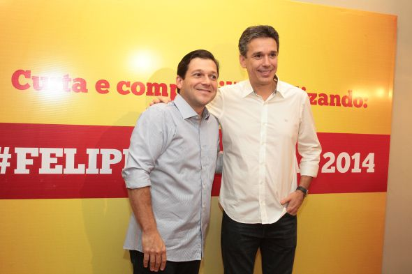 Geraldo Julio e Felipe Carreras - Crédito: Nando Chiappetta/DP/D.A Press