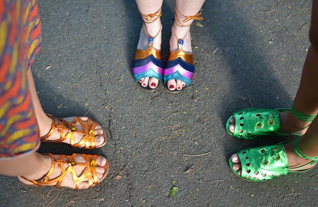 As sandálias criadas por Gaby Créditos: Larissa Nunes/Divulgação