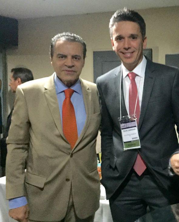 Felipe Carreras com o ministro Henrique Eduardo Alves - Crédito: Arquivo pessoal