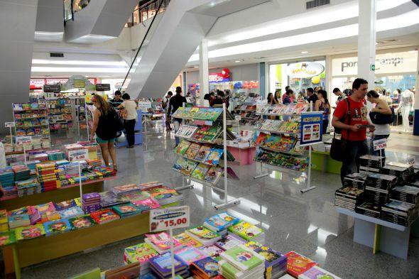 Feira de livros no Shopping Boa Vista. Crédito: Divulgação