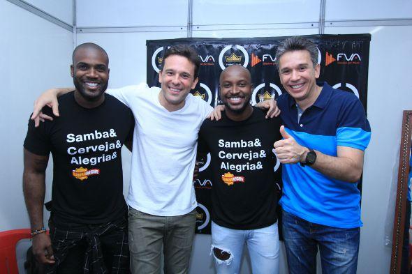 Rafael Zulu, Augusto Acioli, Thiaguinho e Felipe Carreras - Crédito: Luiz Fabiano/Divulgação