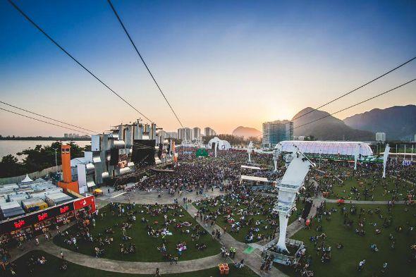 Vista aérea de um dos dias do Rock In Rio 2015. Crédito: Reprodução Facebook