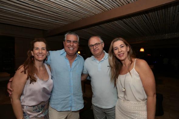 Andrea e José Pinteiro e Eduardo e Germana Carvalheira - Crédito: Peu Hatz/Divulgação