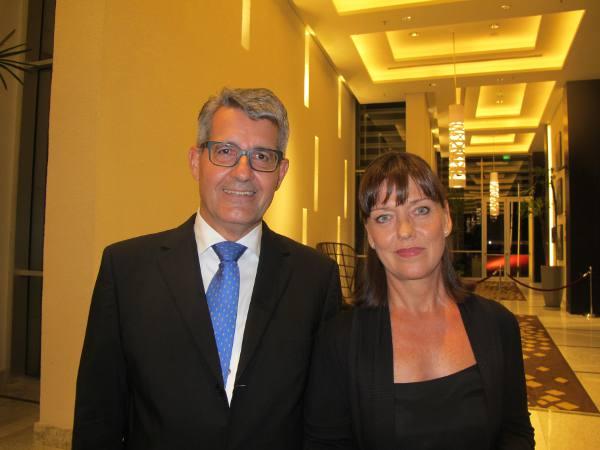 O consul e sra. Dietmar e Moinika Bock/JAMS