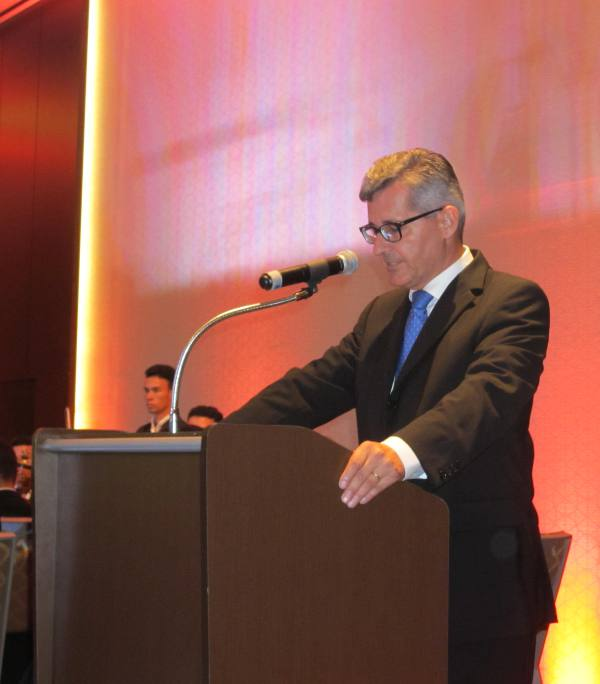 A fala do cônsul Dietmar Bock
