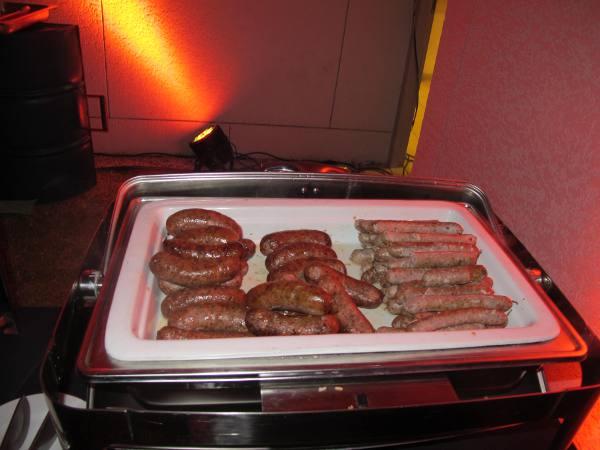 Vários tipos de salsichas alemãs