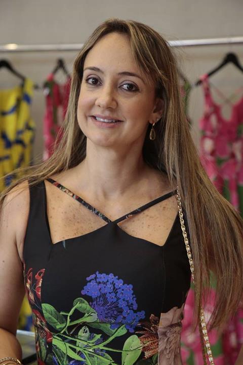 Renata Braga também prestigiou Mary Mansur. Crédito: Gleyson Ramos/Divulgação