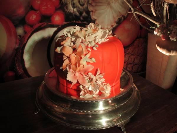 O bolo em forma de jerimum