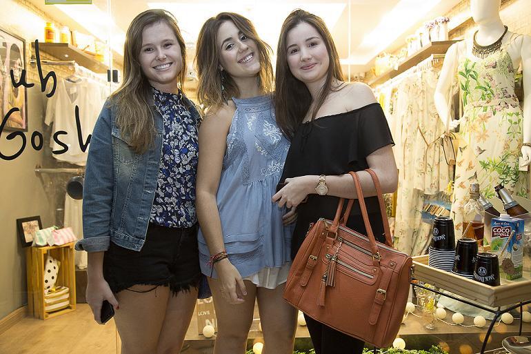 Fernanda Cazzeta, Eduarda Macedo e Maria Eduarda Cabral - Crédito: Tatiana Valença/Divulgação