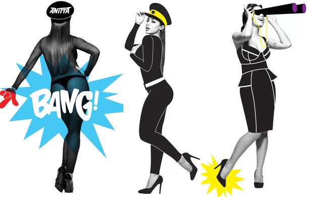 Bang de Anitta foi a música escolhida para o flashmob - Crédito: Divulgação/YouTube