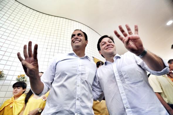 Paulo Câmara e Geraldo Julio - Crédito: Rodrigo Lobo/Divulgação