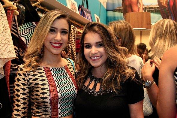 As blogueiras Dany Khadydja e Eduarda Lopes -  Crédito: Raquel Melo/Divulgação