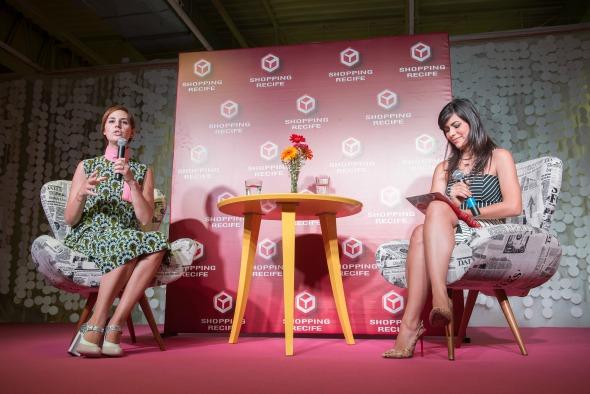A blogueira Milka Elys foi a mediadora do bate-papo