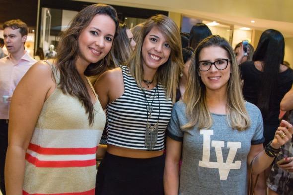 Luciana Souza, Gabriela Veloso e Maria Luíza Brennand - Crédito: Tatiana Sotero/DP/D.A Press