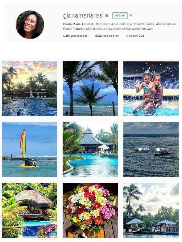 No Instagram da jornalista já tem várias fotos de sua passagem pelo resort - Crédito: Reprodução do Instagram