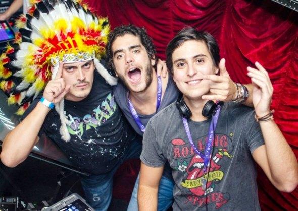DJs da Make U Sweat - Guizelini, Dudu e Pedro Almeida - Crédito: Divulgação do artista