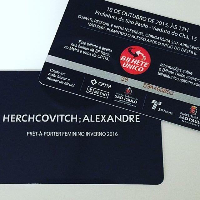 O convite do desfile do Alexandre Herchcovitch neste domingo - Crédito: Reprodução do Instagram