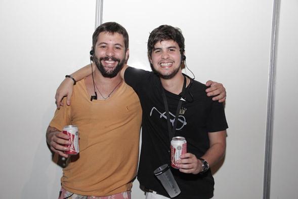 Caio Remígio e Guilherme Pitt. Crédito: Larissa Nunes / Divulgação