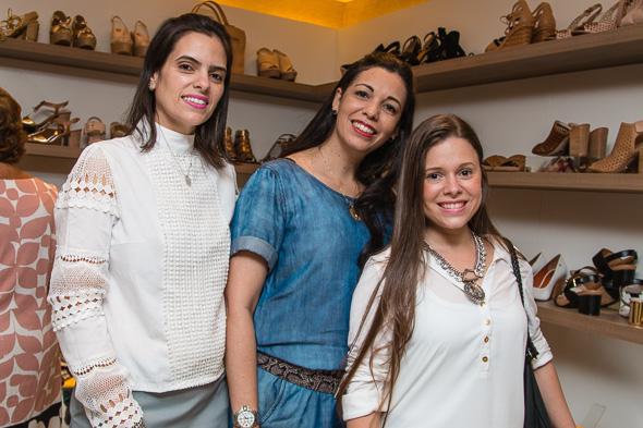 Manuela Guerra, Andrea Carvalho e Mariana Parini. Crédito: Tatiana Sotero / DP / D.A Press