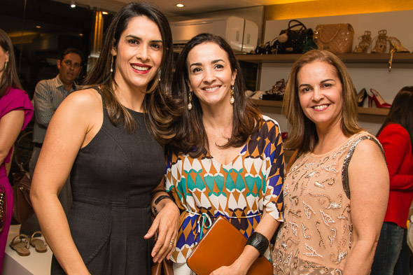 Gláucia Cintra, Djamari Pedrosa e Leda Canazart. Crédito: Tatiana Sotero / DP / D.A Press