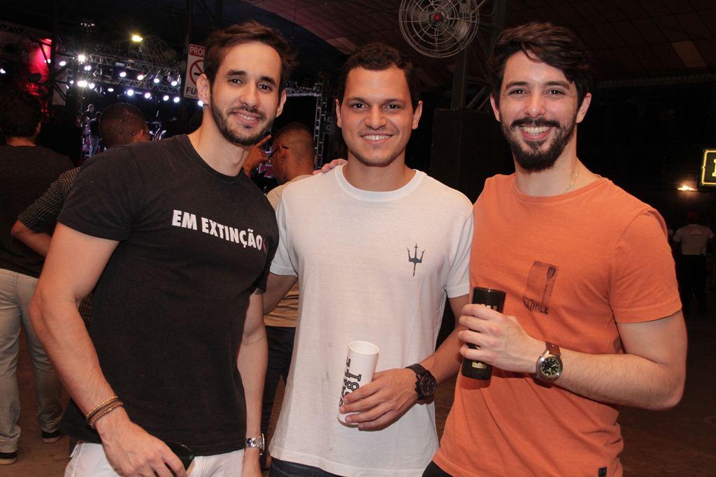 Eduardo Maia, Felipe Aguiar e Lucas Azevedo Créditos: Larissa Nunes/Divulgação