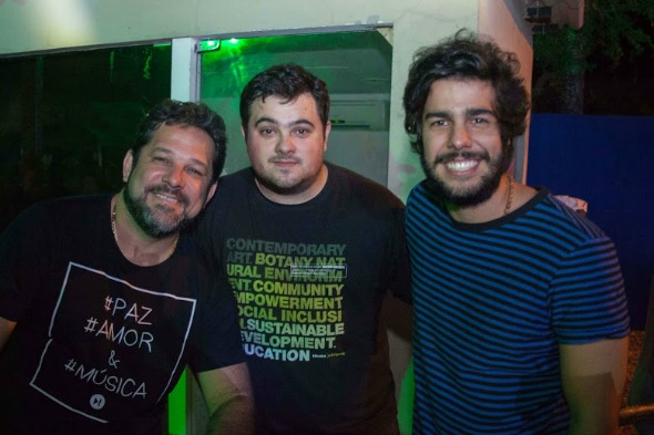 Pedro Mota, Dede Saraiva e José Pinteiro. Crédito: Vito Sormany/Divulgação