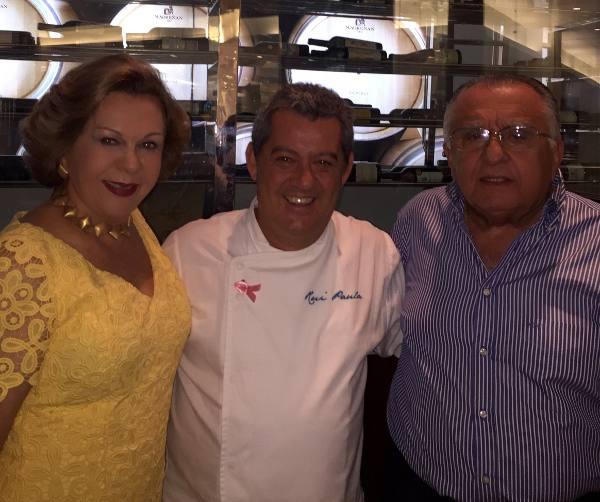 Rui Paula com Auxiliadora e João Carlos Paes Mendonça