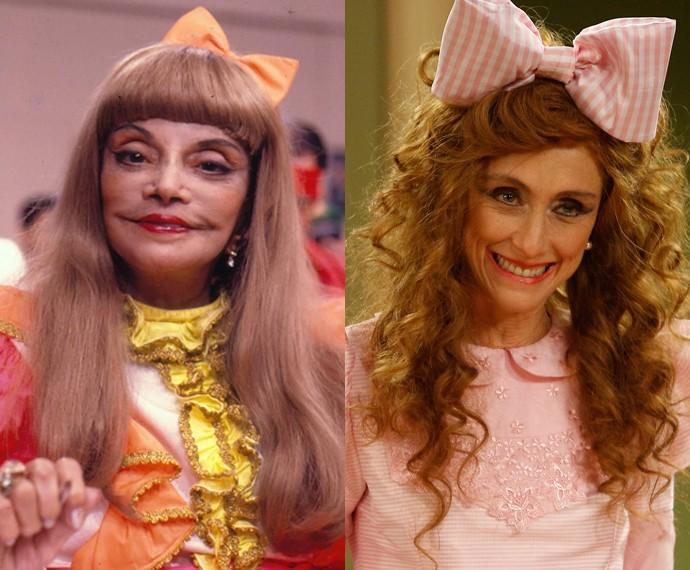 Zezé Macedo e  Betty Gofman como Dona Bela Créditos:  GShow/Divulgação