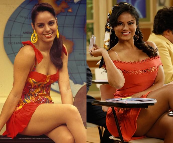 Cláudia Mauro e Ellen Rocche como Capitu Créditos: GShow/Divulgação