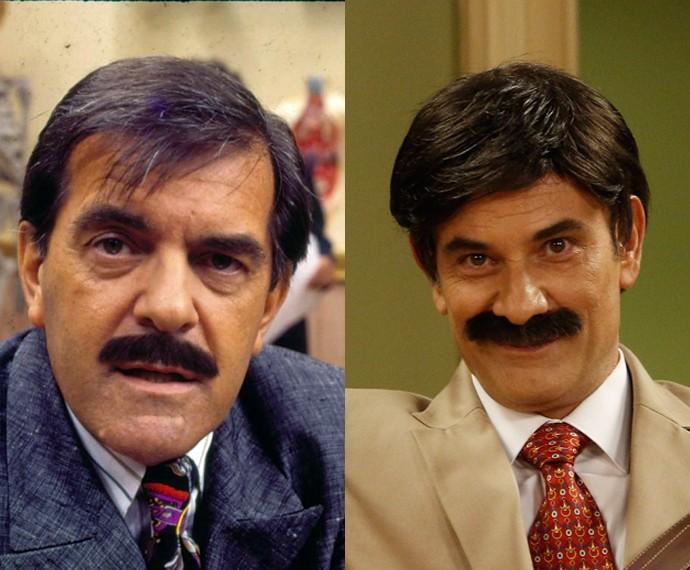 Francisco Milani e Marco Ricca como Pedro Pedreira Créditos: GShow/Divulgação