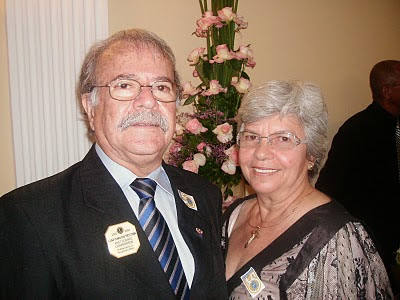 Luiz Carlos Feitosa e esposa