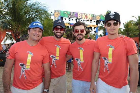 Os produtores do evento Geraldo Bandeira, Jorginho Peixoto, Rafael Lobo e Victor Carvalheira Créditos: Peu Hatz/Divulgação
