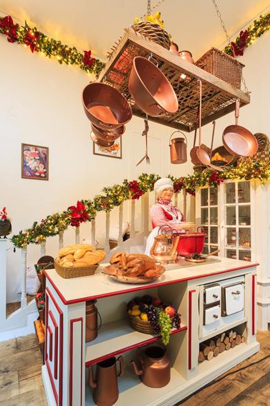 Cozinha da Mamãe Noel: cheia de delícias. Crédito: Vinícius Lubambo / Divulgação