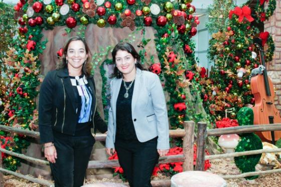 Sandra Arruda (Superintendente do Tacaruna) e Yolanda Celeste (Gerente de Marketing). Crédito: Theo Holanda/Divulgação