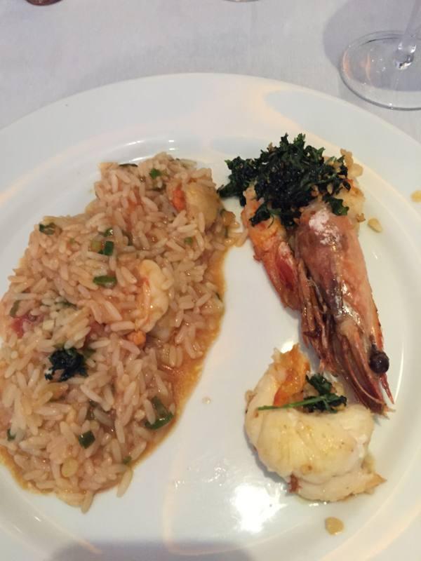 Risto de camarão, novo prato do Felipe