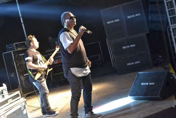 MC Sapão apresentou sucessos da sua carreira Créditos: Larissa Nunes/Vagalume Comunicação
