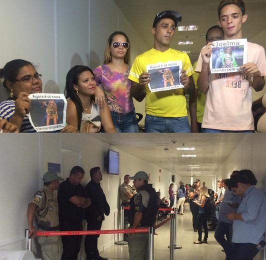 Fãs da cantora Joelma marcaram presença no corredor da 10ª vara da Família, que recebeu um cordão de isolamento para os policiais e seguranças que acompanhavam o ex-casal Créditos: Taís Machado/  DP/ DA Press