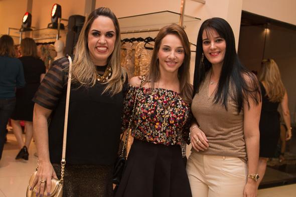 Rapha Torres, Cris Lemos e Karina Paiva Crédito: Tatiana Sotero/D.P./DA Press