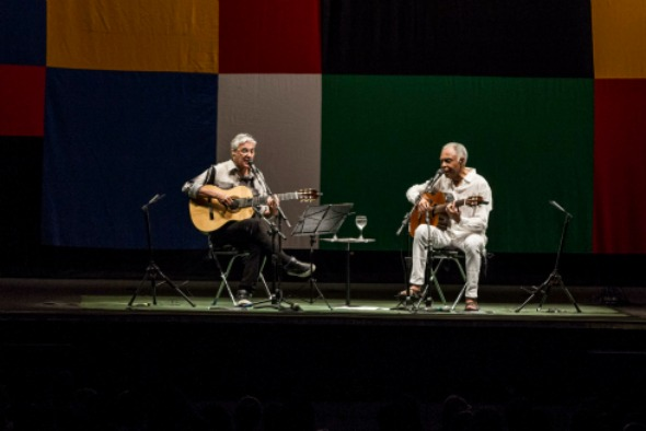 Caetano Veloso e Gilberto Gil. Crédito: Charles Johnson/Divulgação