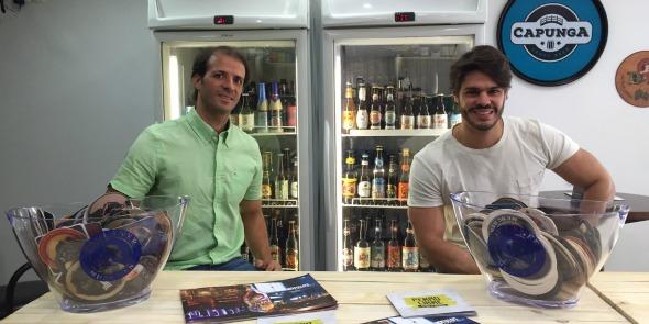 Thiago Cartaxo e Cézar Filho. Crédito: Divulgação/Beer House