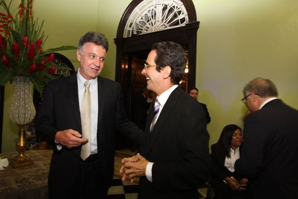 Cláudio Lacerda e Maurício Rands. Crédito: Nando Chiappetta/DP/D.A Press