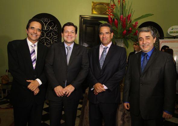 Maurício Rands, Geraldo Julio, Alexandre Rands e Guilherme Machado. Crédito: Nando Chiappetta/DP/D.A Press