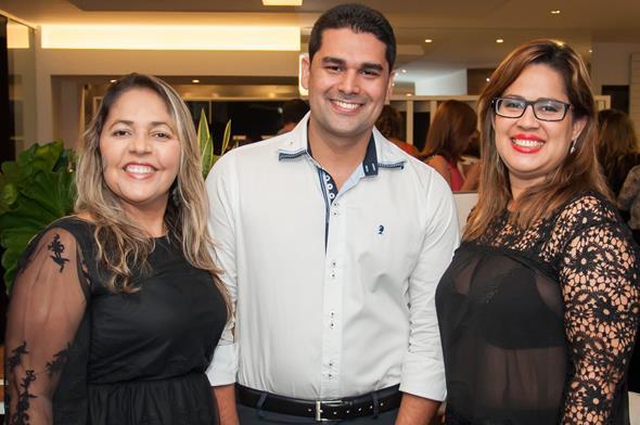 Claudia Nogueira, Geibson Silva e Rosy Gadi Créditos: Dado Cavalcanti/divulgação