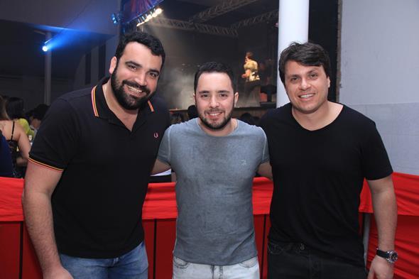 Chico Accioly, Patrick Tavares e Thiago Figlioulo Créditos: Luiz Fabiano/Comunnik