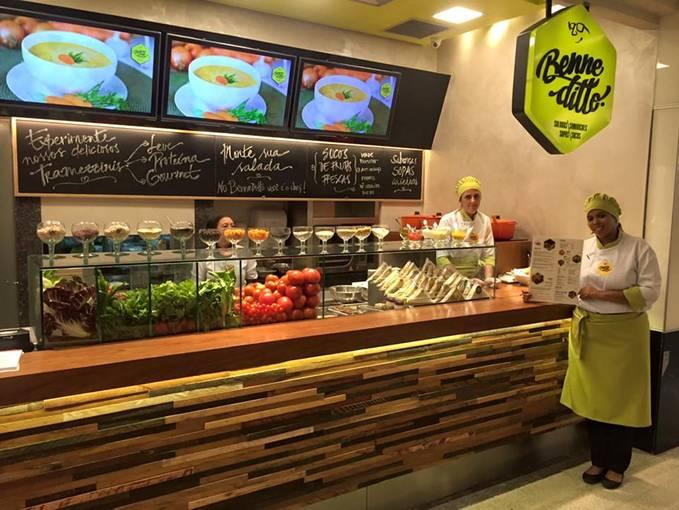 O espaço fica na praça de alimentação da quarta etapa do shopping, próximo ao Laça Burguer Créditos: DIvulgação