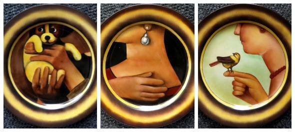 Algumas obras que fazem parte da exposição. Crédito: Reprodução